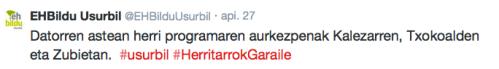 EHBildu twitter