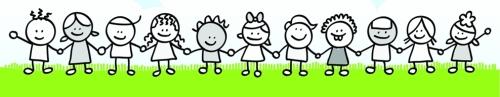 children and nature cartoon illustration