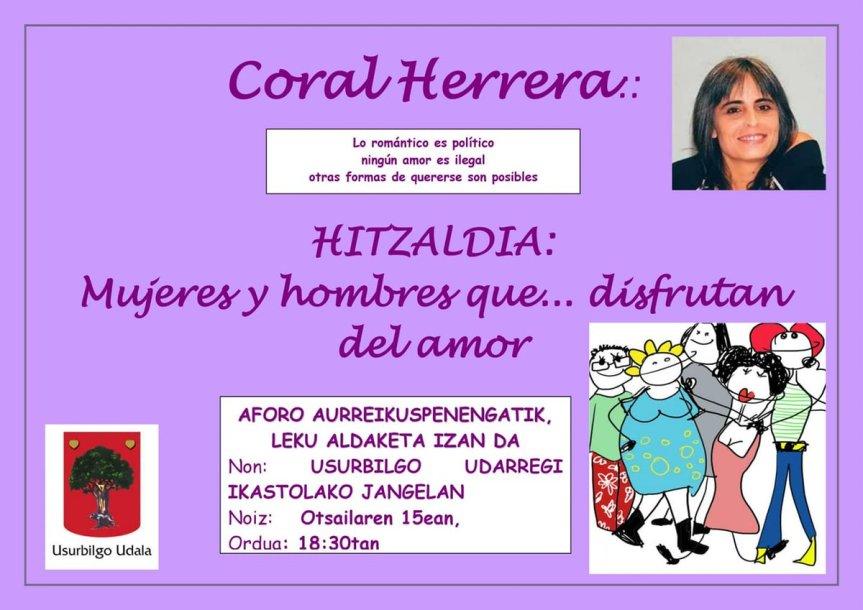 Coral Herrera hitzaldia