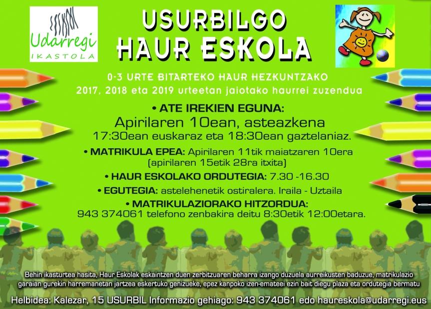 Haureskola 2019-20 matrikulazio karatela Noaua