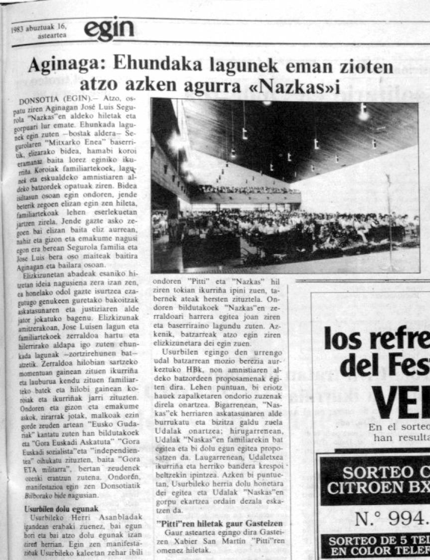 Egin3, 1983ko abuztuak 14-16