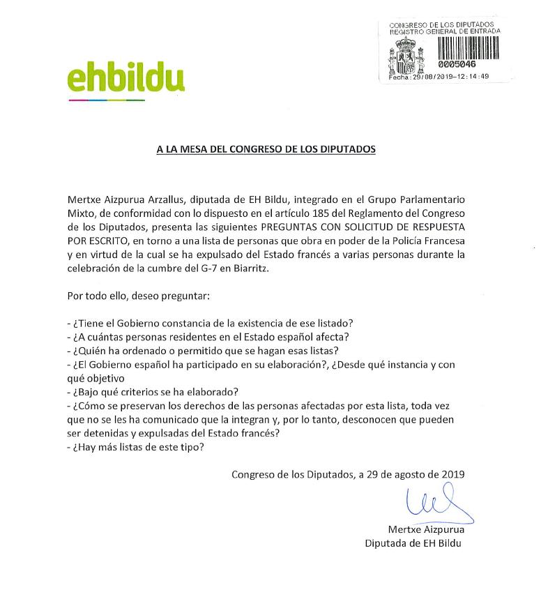 EHBildu Madrilgo Kongresua