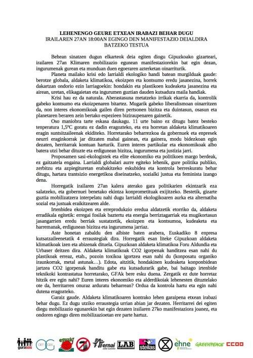 I27-Larrialdi klimatikoa manifestua